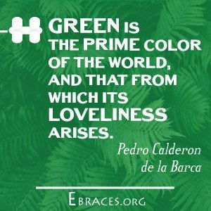 green color quote