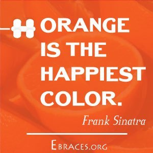 orange color quote
