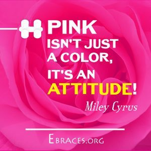 pink color quote